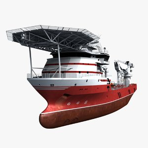 support vessel mpsv boat 3d model