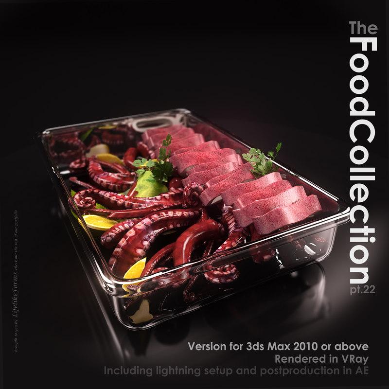 squid glass dish 3d model
