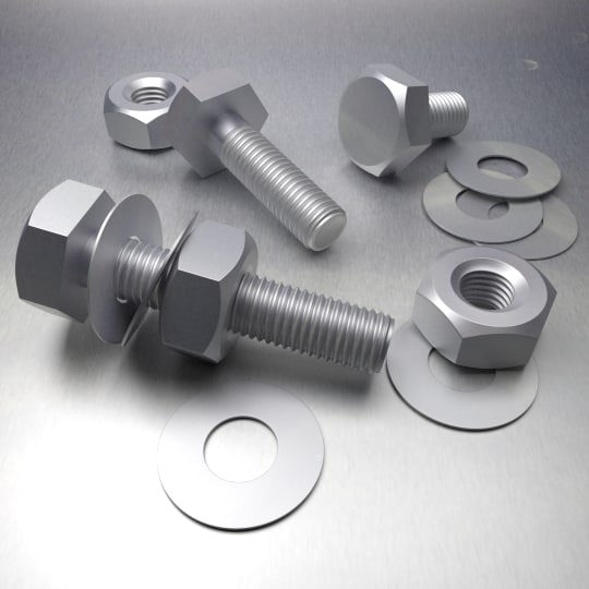 screw bolt 3d blend