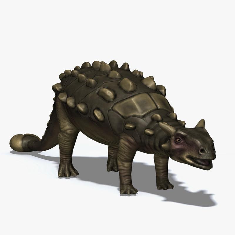 ankylosaurus herbivore cretaceous 3d obj