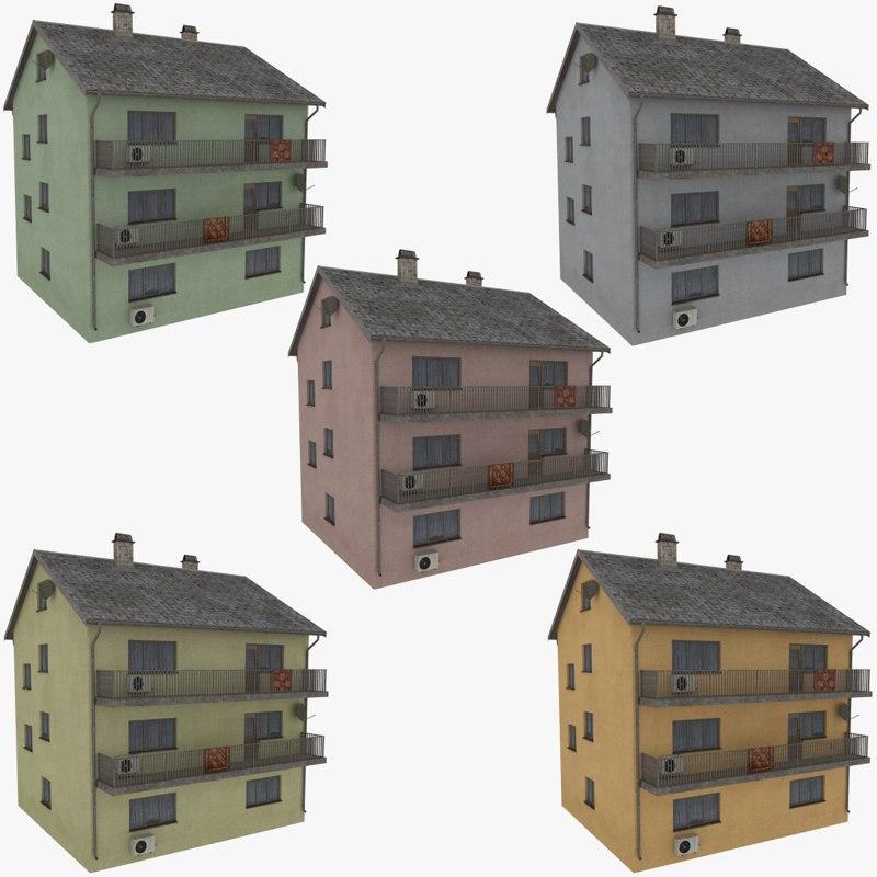 obj storey apartment building