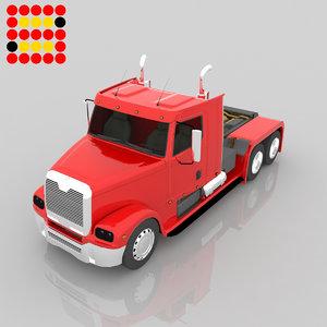 3d truck modeled model
