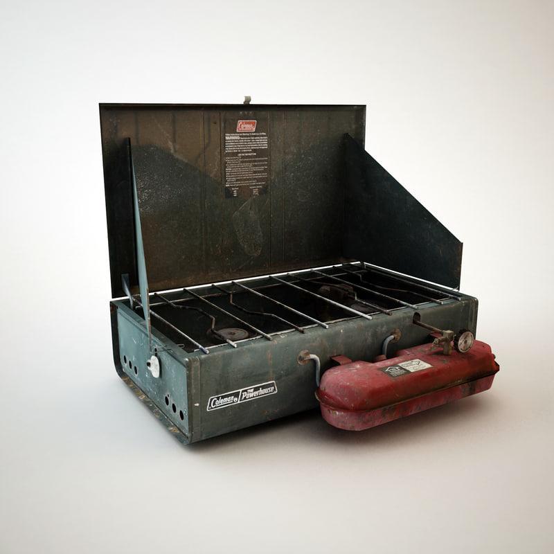 coleman camp stove 3d 3ds