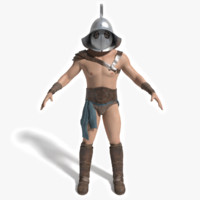 ancient gladiator 3d max
