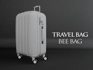 3d travel bag bee model