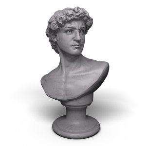 3d david statue bust modeled model