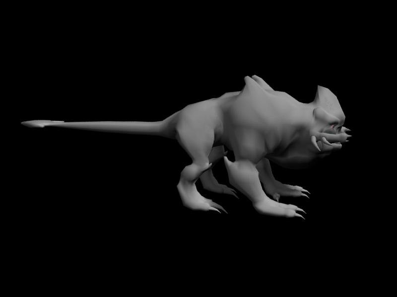 3d alien beast model
