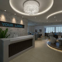 3d model corporate scene interior
