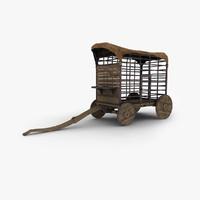 3d model prison wagon