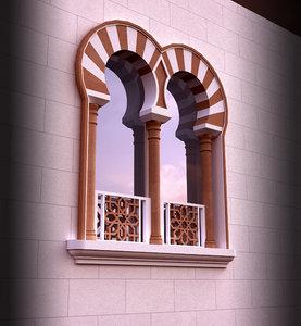 islamic window 3d model
