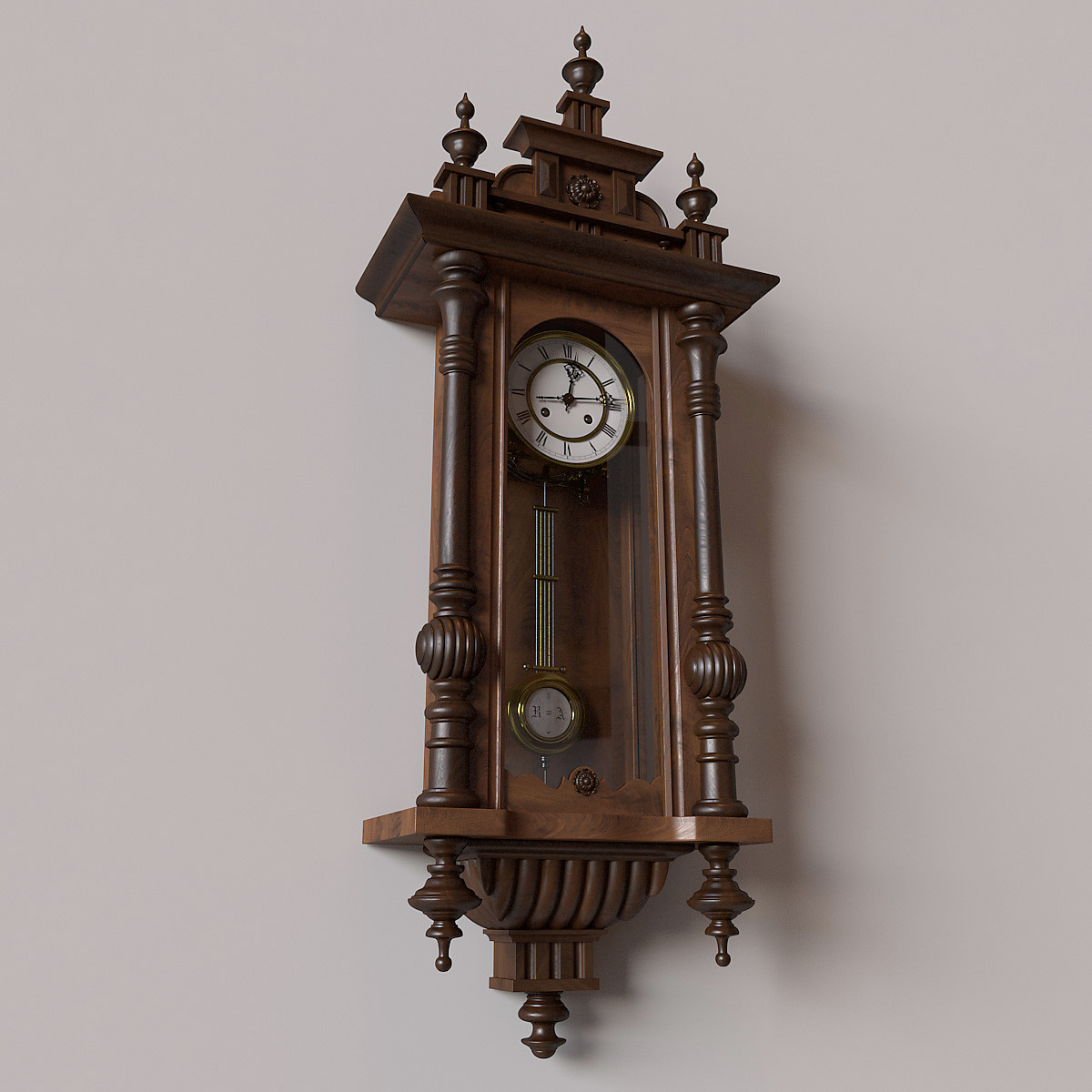 Pendulum wall clock antique 12000 wall clocks obj antique pendulum wall clock amipublicfo Images