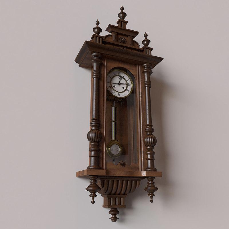 obj antique pendulum wall clock - Pendulum Wall Clock