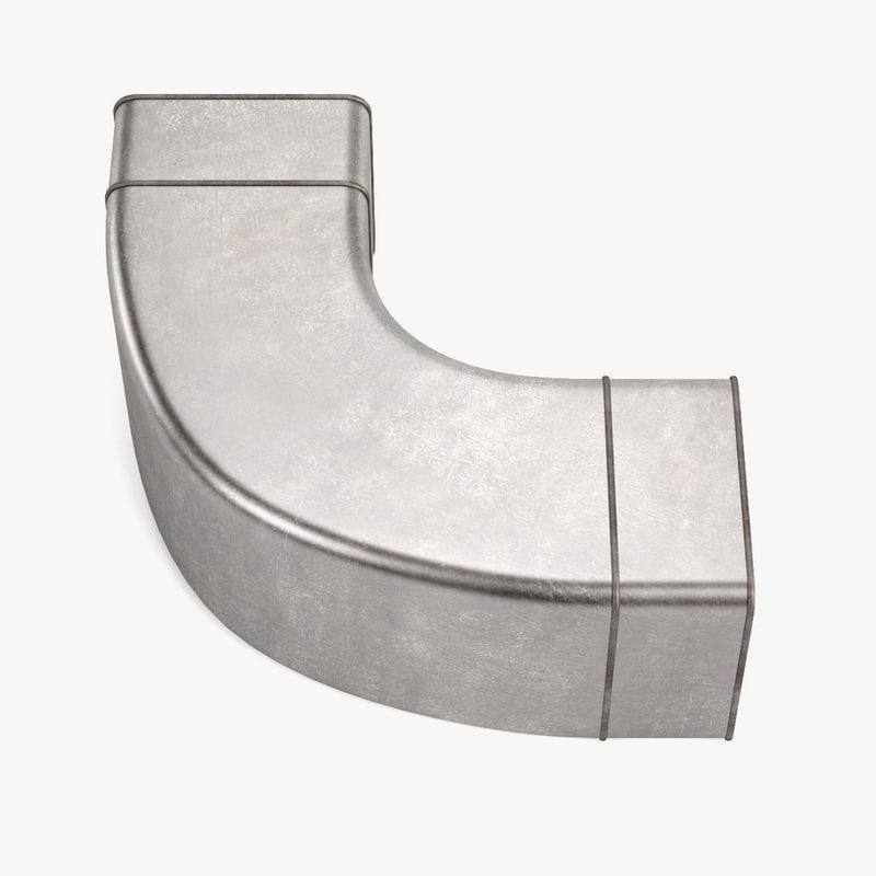 square pipe 3d obj