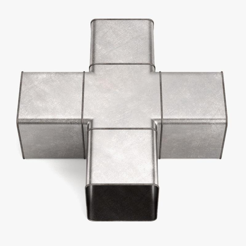 3ds max square pipe