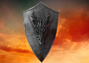 3d dragon shield model