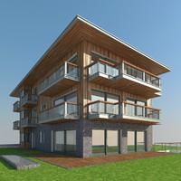 modern tyrolean house 3d model