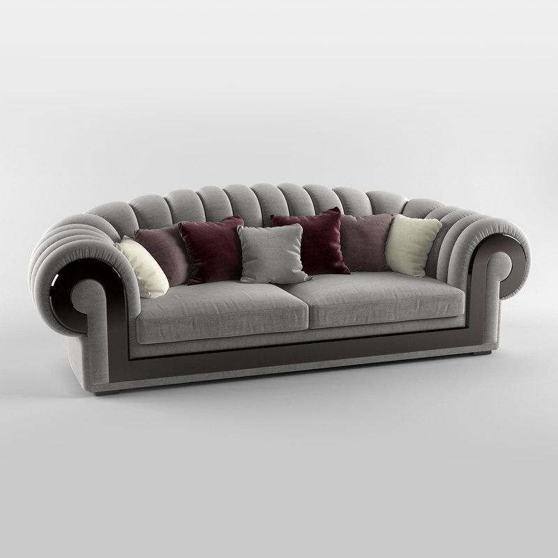 3d turri orion sofa model