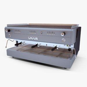 gaggia espresso machine 3d max