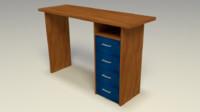pc desk 3d 3ds