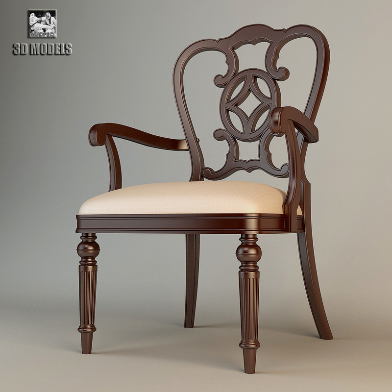 thomasville fredericksburg chair 3d model
