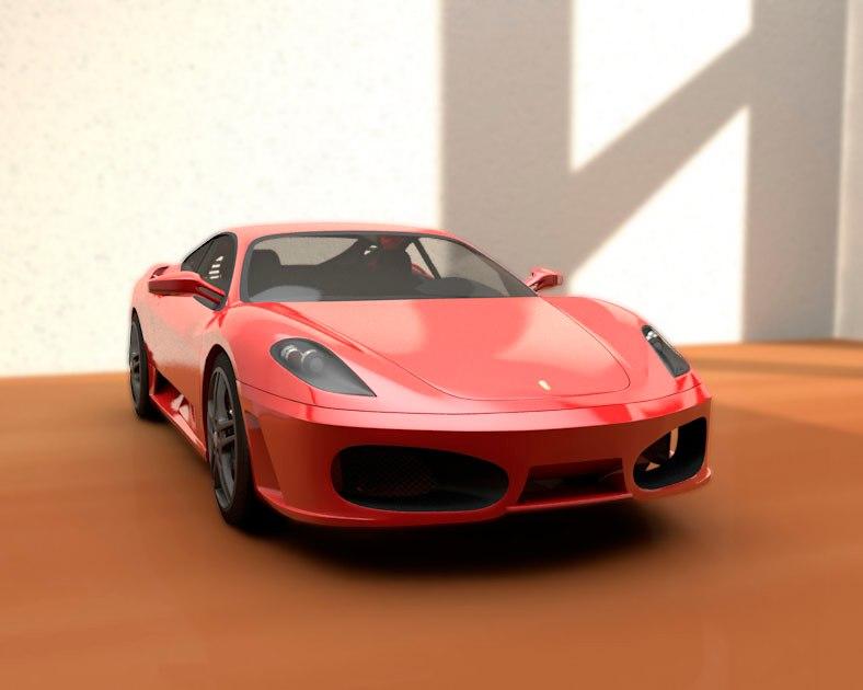 3d model f430 car realistic