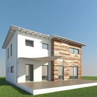 3d house roof model