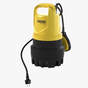 karcher drainage pump sdp 3d model
