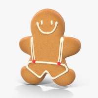 gingerbread cookie 01 3d model