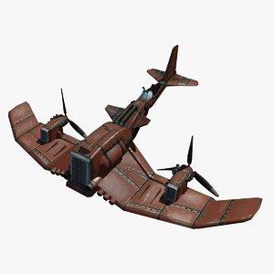 cartoony airplane 3d max