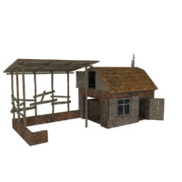 warehouse house 3d 3ds