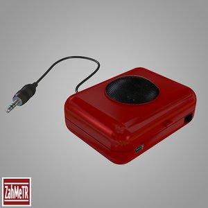 3d atom mini speaker model
