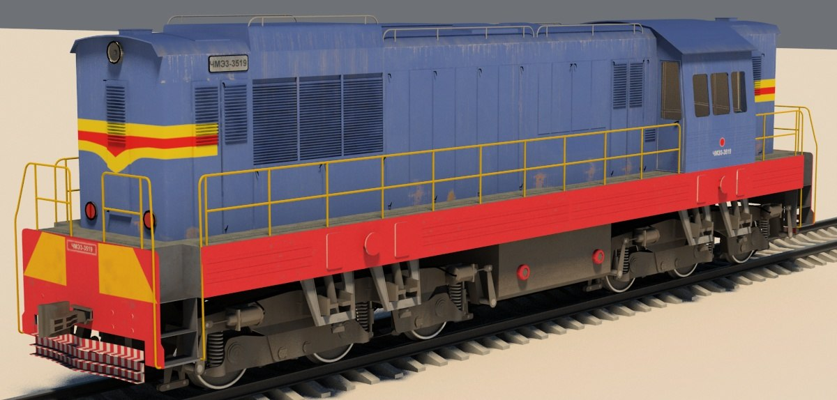 shunter diesel locomotive chme3 3d max