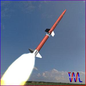 sounding rocket aerobee 170 3d model