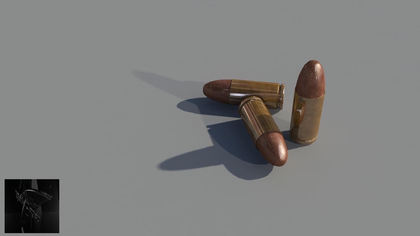 9mm bullets 3d model