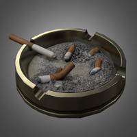 cigarette ashtray 3d model