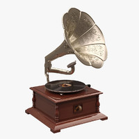 gramaphone voice 3d model