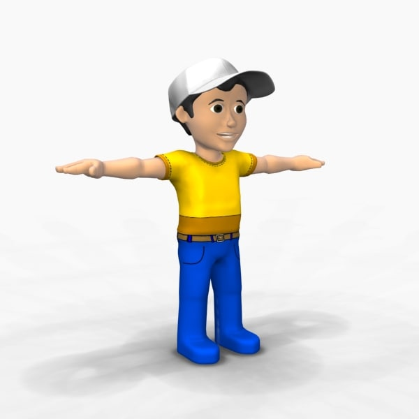 cartoon toon boy 3d max