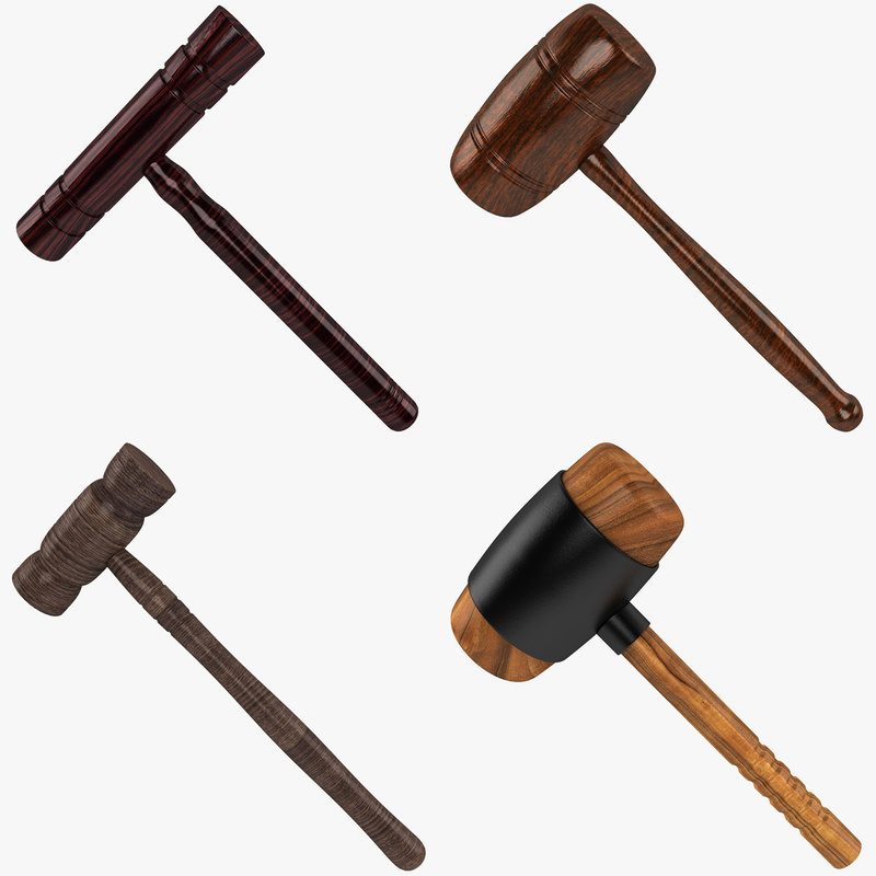 3d wooden mallet model