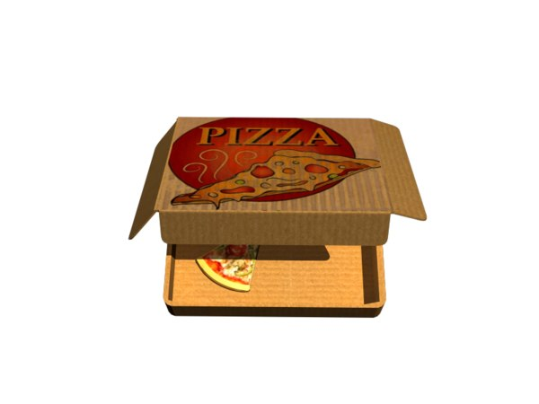 box pizza 3d max