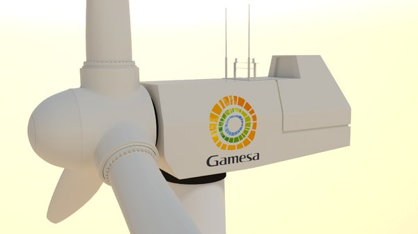 offshore wind turbine 3d model