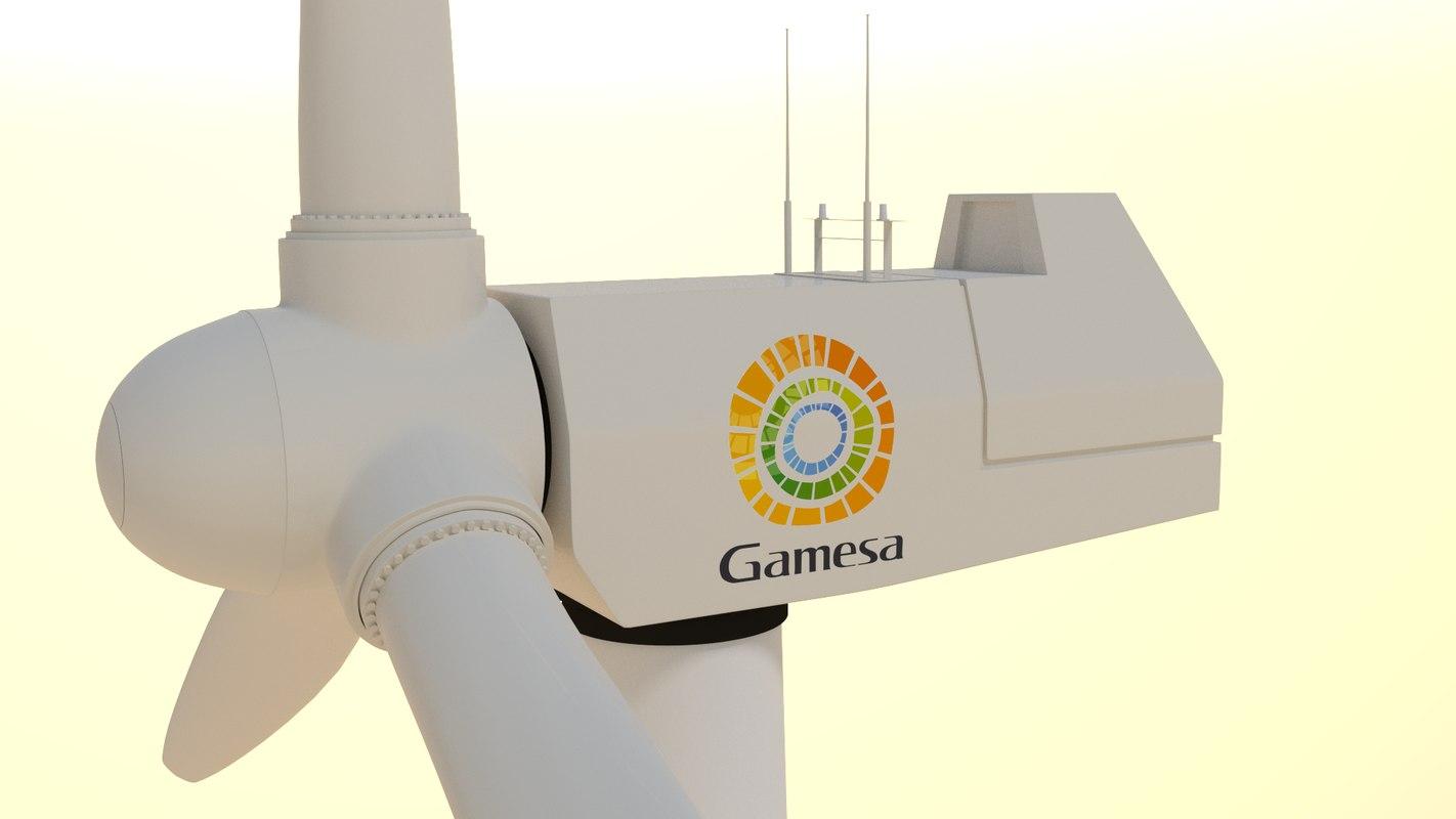 offshore wind turbine 3d model