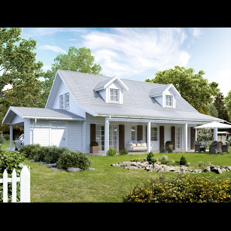 realistic house 3d model