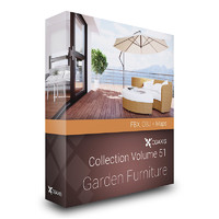 CGAxis Models Volume 51 Garden Furniture FBX OBJ