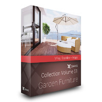 CGAxis Models Volume 51 Garden Furniture VRay