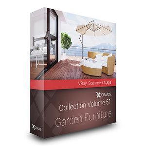 max cgaxis volume 51 garden furniture