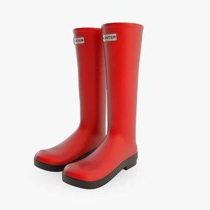 hunter boots 3d model