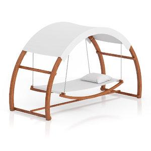 wooden hammock sunshade 3d max