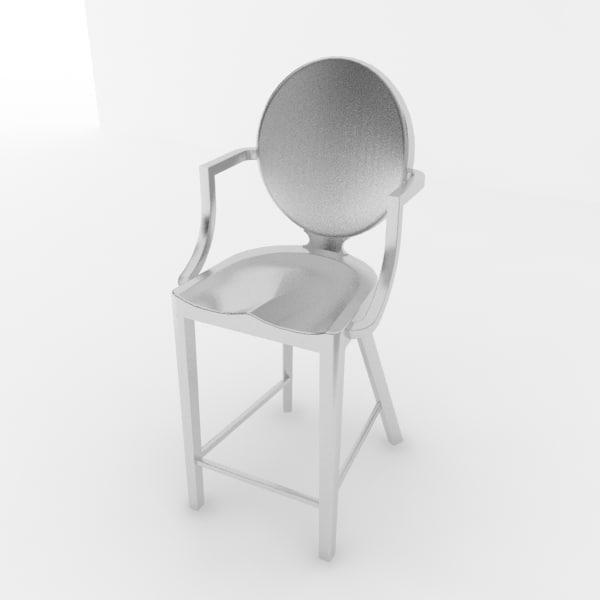 kong stool bar 3d max