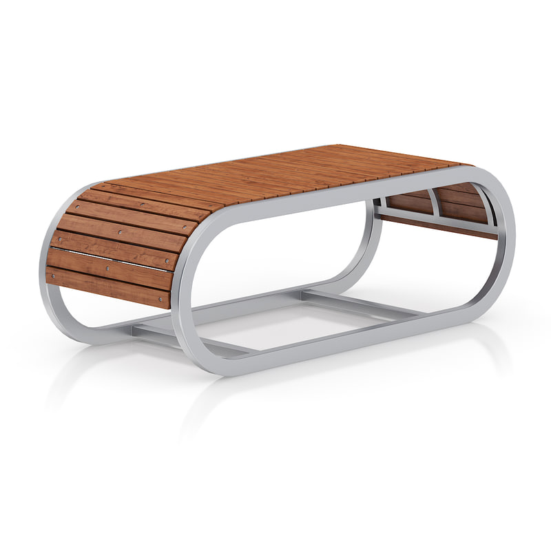 wooden bench metal frame max
