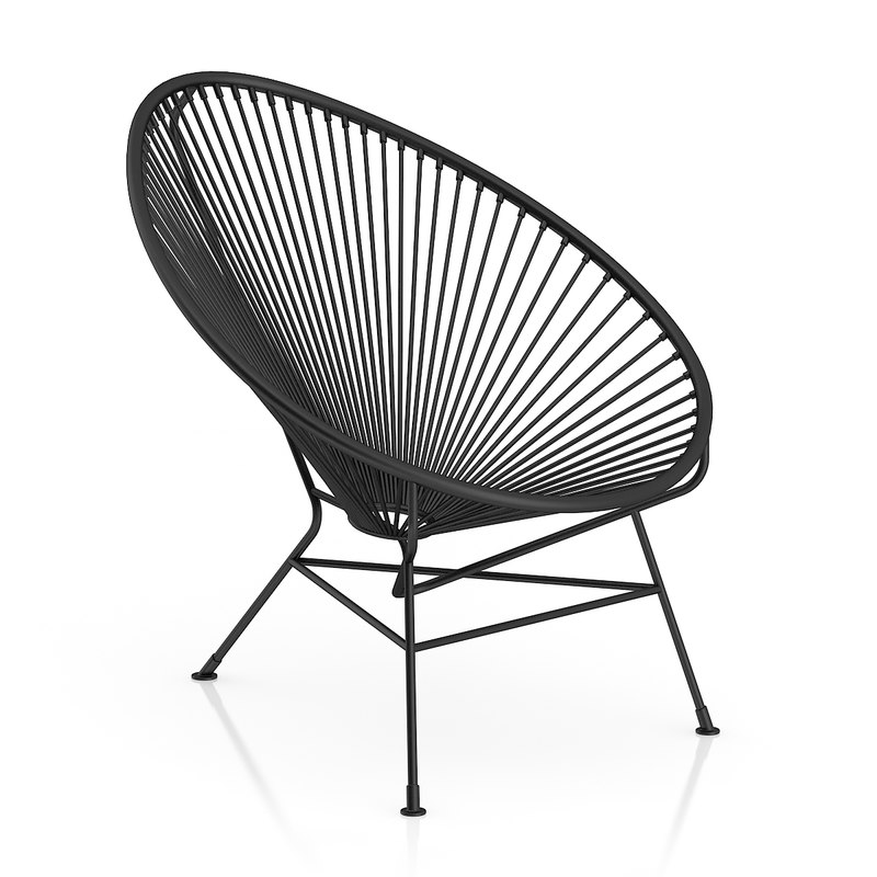 black wire chair 3d max